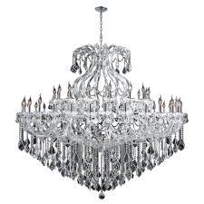 worldwide lighting maria theresa collection 48 light polished chrome crystal chandelier