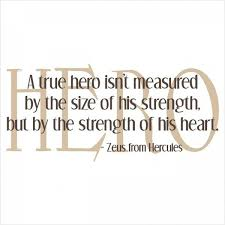 Hero Quotes Classy A True Hero' Quote Vinyl Quote Decal � � œ� � Need A Hero