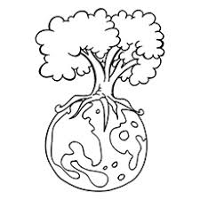 nature coloring pages earth day