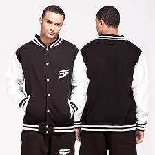 black white varsity jacket u