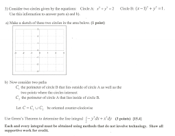 3 consider two circles given by the equations circle a x y use this