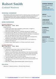 hostess sample resume cocktail waitress resume samples qwikresume