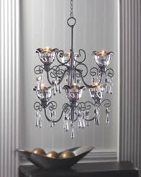 chandeliers candle holder midnight black hanging metal chandelier for candles