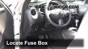 interior fuse box location 2011 2016 nissan juke 2012 nissan locate interior fuse box and remove cover