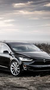 Tesla Model X black electric car ...