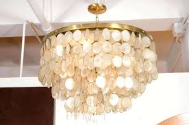 capiz shell flush mount light fixtures captivating chandelier for a vintage comprised of brass frame with six concentric circles descending in size to