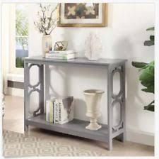 cheap entryway table. Console Table For Entryway Hallway Foyer Sofa Narrow Small Slim Retro Grey Gray Cheap O
