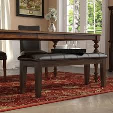 Dining room table bench Dark Wood Bartons Bluff Wood Bench Wayfair Kitchen Dining Benches Youll Love Wayfair