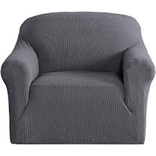 h versailtex elastic 1 piece sofa solid cover anti skid protector couch cover armchair slipcover home decor stretch sofa cover removable one seater grey