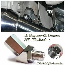 Details About 45 Degree Cel Check Engine Light Fix O2 Sensor Spacer With Catalytic Converter