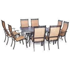 Aluminum Outdoor Dining Table Agio Somerset 9 Piece Aluminum Square Outdoor Dining Set With Cast