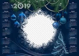 Calendar Template Png 2019 2018 Dark Blue Calendar Template Magical Holiday Psd