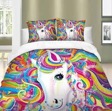 rainbow unicorn bedding set kawaii group
