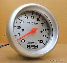 autometer tachometers auto meter 4497 pro comp ultra lite in dash tach 10k rpm 3 3 8 dia elec