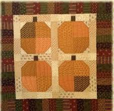 192 best pumpkin quilts images on Pinterest | Quilt patterns ... & Simple pumpkin quilt Adamdwight.com