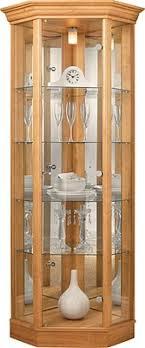 image display cabinet lighting fixtures. contemporary image corner glass display cabinet  light oak effect inside image lighting fixtures n