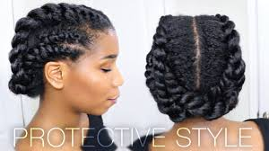Edgy Twisted Office Gym Protective Natural Hairstyle Work Out