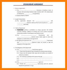 sponsorship agreement 8 sponsorship agreement format janitor resume