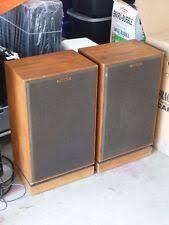 klipsch speakers vintage. vintage pair of klipsch kg4 floor standing horn speakers w walnut cabinets c