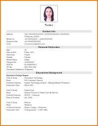Resume Letter Tagalog Awesome Collection Of Sample Resume For