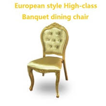 wood banquet chairs. High-class Banquet Chair European-style Wood Imitation Aluminum Chairs Star Hotel Dining C
