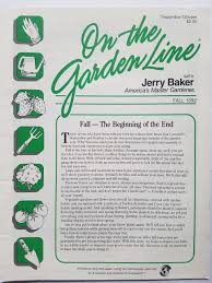On The Garden Line With Jerry Baker Fall September October