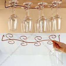 Wine Glass Hangers Under Cabinet 6 8 Wine Glass Rack Stemware Hanging Under Cabinet Holder W Screw