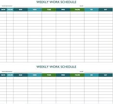 Weekly Calendar Excel Template Biweekly Work Schedule Template