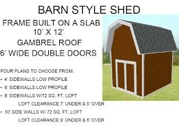 barn style storage shed plans free