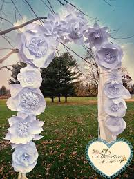 Paper Flower Archway Paper Flowers Wedding Archway Diy Flower Backdrop By