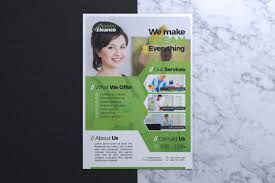 Services Flyer Cleaning Service Company Flyer Template