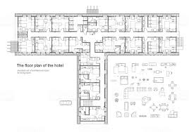 floor plan furniture symbols. Architectural Plan Of A Hotel. Standard Furniture Symbols Set. Royalty-free  Architectural Floor