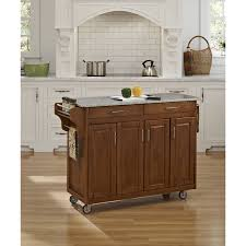Granite Kitchen Cart August Grove Regiene Kitchen Island With Granite Top Reviews