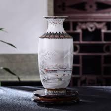 antique jingdezhen ceramic vase vintage vase desk accessories crafts snow flower pot traditional chinese style porcelain