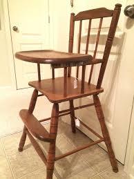 vintage wooden furniture. vintage wooden high chair jenny lind antique furniture