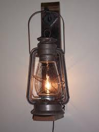 rustic cabin lighting electric lantern wall fixture from bigrocklanterns
