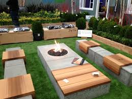 concrete garden bench for outdoor for bench landscaping design