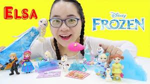 Bộ Sưu Tập Đồ Chơi Nữ Hoàng Băng Giá Elsa Của Chị Cà Chua - YouTube
