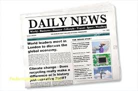 Sample Newspaper Template – Freewarearena.info