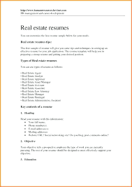 Contemporary Ideas Real Estate Assistant Resume Real Estate Agent