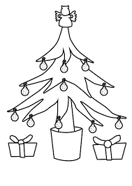 Small Picture Coloring Pages Christmas Tree Outline Christmas Tree Outline For
