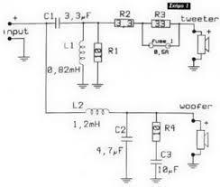 2 way speaker crossover circuit circuit wiring diagrams schematic 2 way speaker crossover