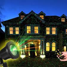 Whole House Christmas Light Projector Amazon Com Yunlights Christmas Light Projector With Rf