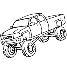 Monster Truck Coloring Pictures Onefranklintowercom