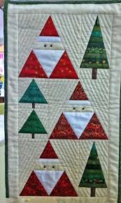 Santa & Christmas Trees Wall Hanging Pattern by BobKat Quilts ... & Santa & Christmas Trees Wall Hanging Pattern by BobKat Quilts Adamdwight.com