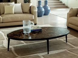 oval coffee table by porada design