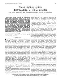 Iec Lighting Levels Pdf Smart Lighting System Iso Iec Ieee 21451 Compatible