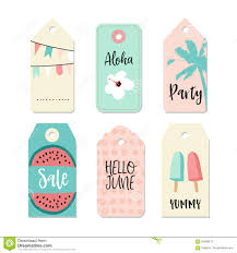 Summer Gift Tags Set Of Vintage Sale And Gift Tags And Labels Summer