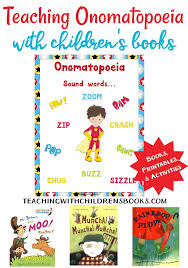 How To Teach Onomatopoeia With Picture Books Free Printables