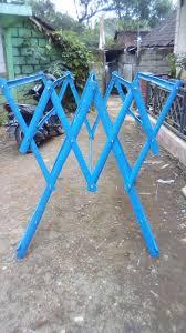 Membuat jemuran lipat dinding sederhana dari baja ringan. 30 Ide Model Jemuran Baju Dari Bambu Maria Space